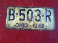License Plate Tag 1948 Ohio B 503 R Rustic USA