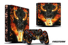 Skin Decal Wrap For PS4 Slim Playstation 4 SLIM Console + Controller Stickers FS
