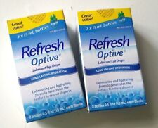 4pc Refresh Optive Lubricant Eye Drops for dry eye each 0.5 fl oz / 15ml