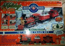 Lionel G Gauge Holiday Train Set Battery Operated-24 Pieces-Musical-Boxed 62134