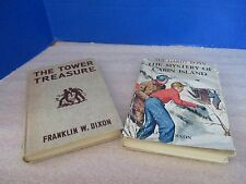 VINTAGE Hardy Boys~Lot of 2~The Tower Treasure and Mystery of Cabin Island