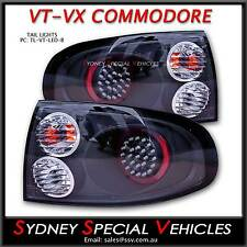VT VX COMMODORE SEDAN LED TAIL LIGHTS BLACK PERFORMANCE ALTEZZA PAIR OF NEW