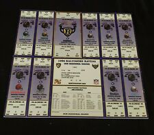 COMPLETE 1996 BALTIMORE RAVENS INAUGURAL 10 GAME SEASON TICKETES/SCHEDULE/CARD