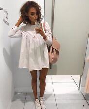 Zara White Poplin Jumpsuit Playsuit Dress Size L - LARGE - UK 12 - BNWT