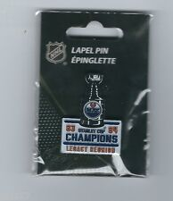 NHL Hockey Edmonton Oilers 83 84 Stanley Cup Champions Legacy Reunion Lapel Pin
