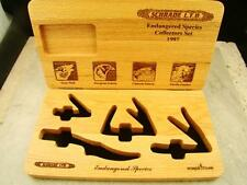 Schrade L.T.D. Endangered Species Collectors Set 1997 CASE #1