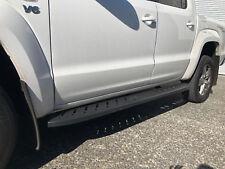 Volkswagen Amarok Dual Cab Black Steel Side Steps 2010-2018 (Shark Bar)