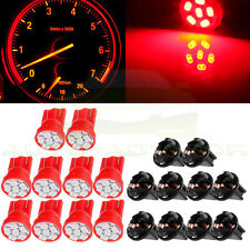 10x T10 Red PC194 LED Bulb Instrument Panel Cluster Dash Light Twist Lock Socket