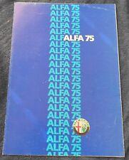Alfa Romeo 75 Prospekt 1986 Deutsch Brochure Depliant no book buch press