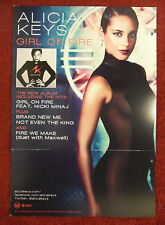 Music Poster Promo Alicia Keys ~ Girl On Fire~ DS Double Sided