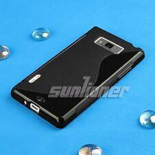 black Gel TPU Rubber Silicone Case Skin Cover for LG P705 / P700 / L7 Optimus