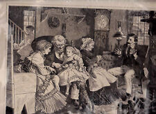11 x 14 1/2 print- At the Old Homestead- CG Bush (1870)