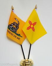 Gadsden & New Mexico Double Friendship Table Flag Set