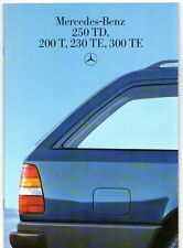 Mercedes-Benz W124 Estate 1986-88 UK Market Brochure 200 T 230 300 TE 250 TD