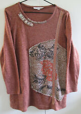 Ladies Arcadia Knit Jumper Size 12 Light Weight Soft Long Sleeve