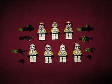 LEGO Star Wars minifigures LOT Yellow LEUT,Squad,Clone Pilots,Arc Trooper Lot