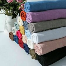 Linen Cotton Fabric Organic Material Pure Natural Flax Cambric Eco Craft Costume