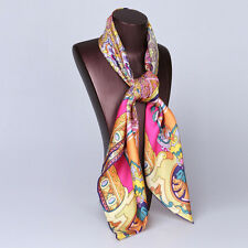 100% silk scarf pink square twill silk with hand-rolled edge