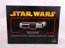Star Wars Master Replicas Yoda Lightsaber .45 Scale SW-317 ROTS Complete Unused