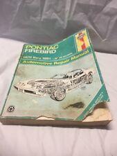 Repair Manual Haynes 79018 fits 70-81 Pontiac Firebird V8