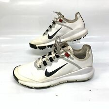 Nike Mens Rare Tiger Woods 2012 Golf Shoes Size 8.5 White Leather (Sh-266)