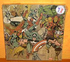Wandbild Druck Marvel Superhelden super heroes 26x26cm Pyramid France Holz