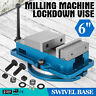"6"" Milling Machine Lockdown Vise Swivel Base 360 Degree Precision CNC 29KN"