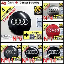 WHEELS HUB CENTER CAPS Centro LLantas 4pcs (CAPS+STICKERS) AUDI  type a