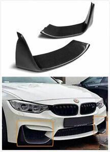 Carbon Fibre Front Bumper Aprons Elerons Valances For BMW M3 F80 + M4 F82 / F83