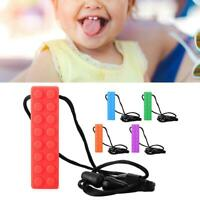 Baby Oral Sensory Chew Toys Teether Necklace Chewing Necklace Block Teether
