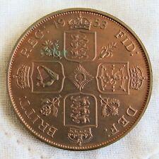 More details for 1953 queen elizabeth ii copper proof pattern double florin