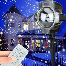 New Snow Falling LED Moving Laser Projector Light Snowflake Xmas Landscape Lamp