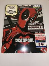 Deadpool 2-Year Anniversary 4K Blu-Ray Best Buy Steelbook NEW Patches Decals