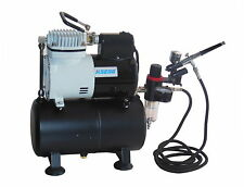 Mini Airbrush Compressor With Tank  AF186 Kit 1 With Extra Cooling Fan