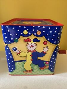 Schyllings~Silly Circus~Tin Jack-In-The-Box~Toy Clown~Excellent Condition