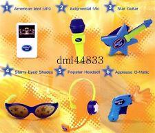 2007 McDonalds American Idol MIP Complete Set - Lot of 6