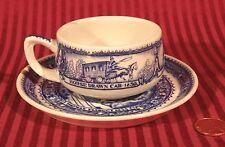 B&O Baltimore Ohio RAILROAD CENTENNIAL Antique China Demitasse Cup Saucer 1927