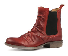 EOS Willo Red Leather Ankle Boots RRP$220 Willow Chelsea Boot Casual Shoes