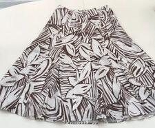 M&s Per Una Skirt Size 10 Brown And White Per Una Pure Linen Skirt