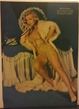 Amazing Vintage Color Marilyn Monroe Magazine Clipping On the Phone. Beautiful!