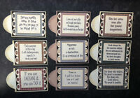 9 INSPIRATIONAL SENTIMENTS TAGS CARD MAKING SCRAPBOOKING CRAFT EMBELLISHMENTS