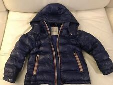Moncler Gaston Boys Puffer Down Jacket Coat Cobalt Size 4