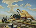 Thomas Hart Benton Rice Treshing Canvas Print 16 x 20     # 4136