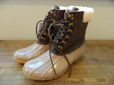 Sperry Top-Sider For J.Crew Leather Shearwater Boots womens 8 brown gray