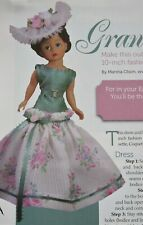 """Grandest Lady 10"""" Fashion Doll Dress Hat Clothing SEWING PATTERN"""