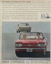 1964 Chevrolet Corvair Convertible 11x14 Vintage Advertisement Print Car Ad LG46