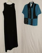 Miss Dorby Womens Dress Outfit 12/14 Teal Black Dress Blouse A45