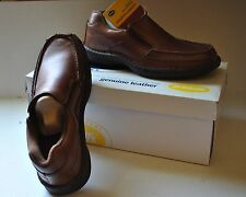New Dr SCHOLL'S Men's Casual Shoe Ryan s 8.5 BROWN  Leather Comfort Box