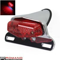 Motorcycle Cafe Racer 12V LED Taillight Lamp License Plate Mount For Harley New