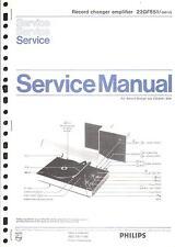 Philips original service manual pour 22 GF 851
